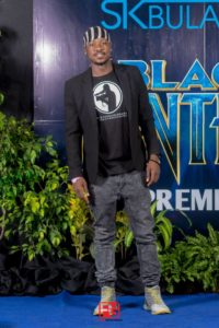 Filmmaker Elliot Moyo at the Black Panther Launch in Bulawayo: Picture By FMG