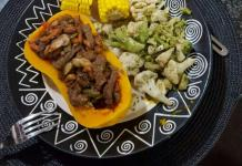 Urban Food Diary with Chef Zinzie: Stuffed Roast Butternut