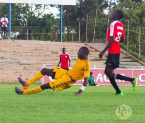 Talent Visions McCarthy Dube scores the winner after disposseing Hwange's Houdlucks Kaunda.