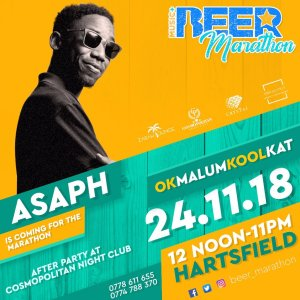 Asaph to perfom at the Beer Marathon