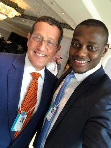 Zimbabwe Tourism Authority Spokesperson Godfrey Koti with CNN's Richard Quest at the World Government Summit