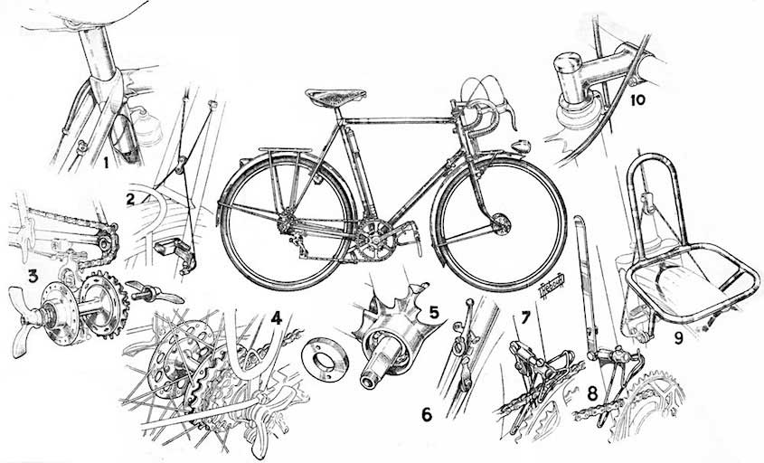 I disegni illustrati sulla bicicletta, di Daniel Rebour