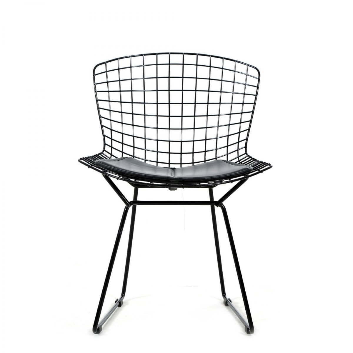 Bertoia Chairs Black Bertoia Wire Chair 2pcs