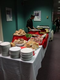 Chef Andrew prepares a catered event.