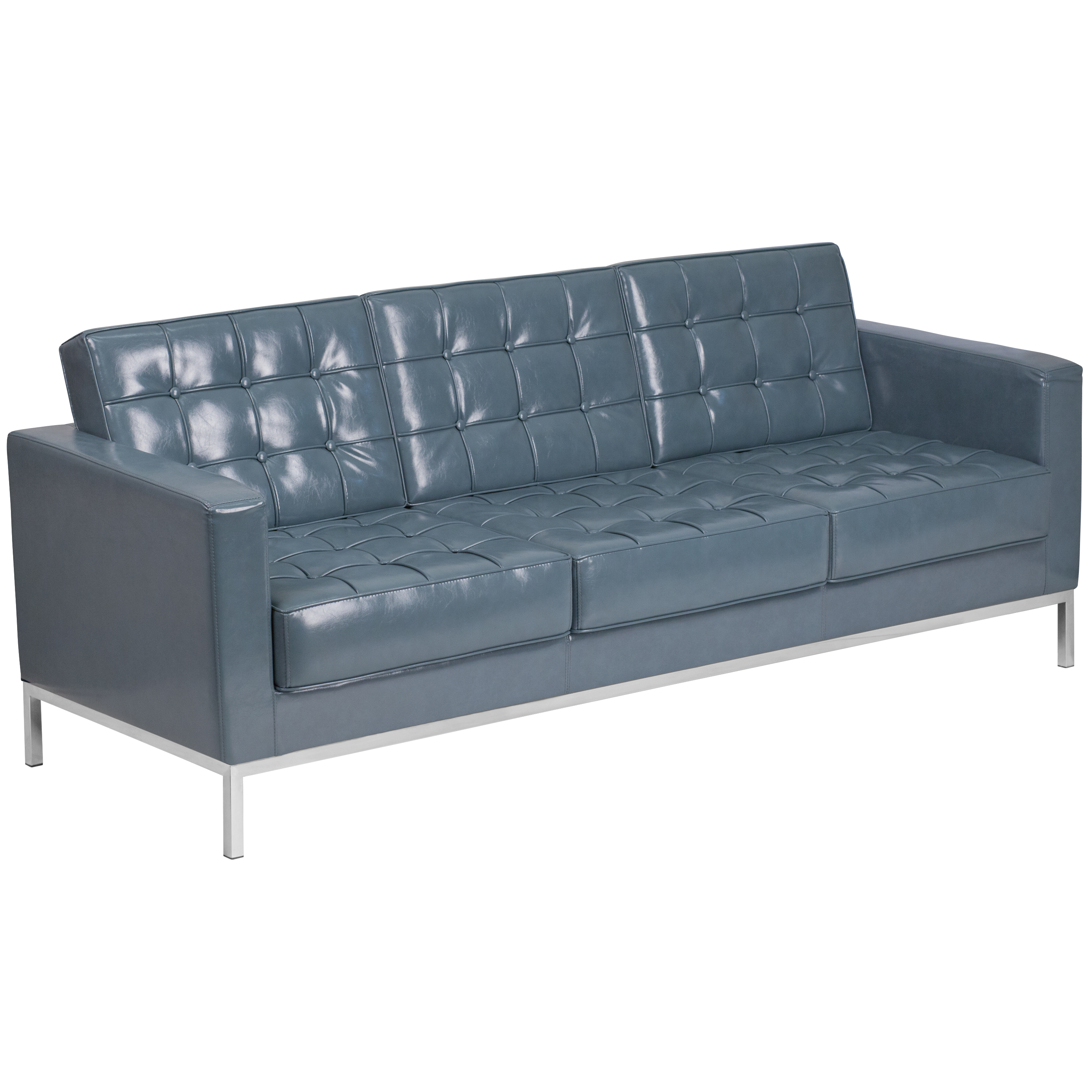 steel frame sofa quality leather sofas melbourne hercules lacey series contemporary gray with