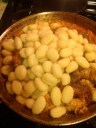 Adding the gnocchi.