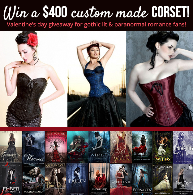 YA paranormal Romance Giveaway + custom-made corset!