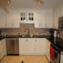 Kitchen Facelift Gold Faucet Condominium Urbanest Construction 80s To A More Open Contemporary Look We Raised The Drop Ceiling Install Pot Lights Replaced Flooring With Solid Stone Tile And Created