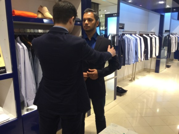 A suit fitting at The Collective, Palladium, Mumbai.