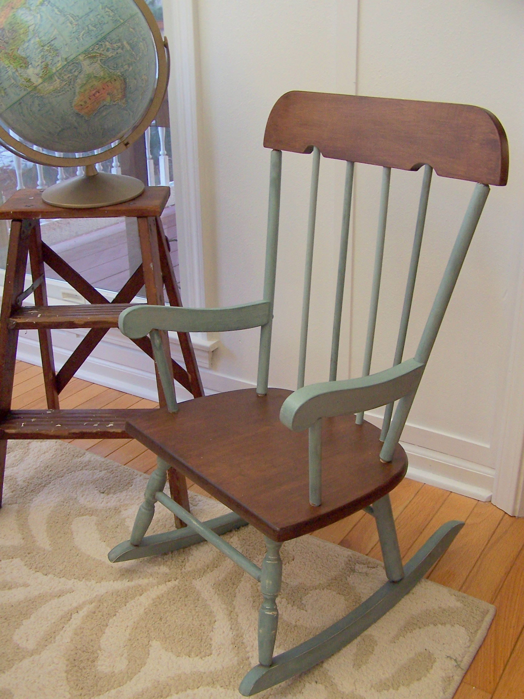 how to make a rocking chair not rock modern vanity vintage hardwood childs urban farmhouse
