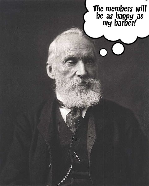 Lord Kelvin ponders the consequences