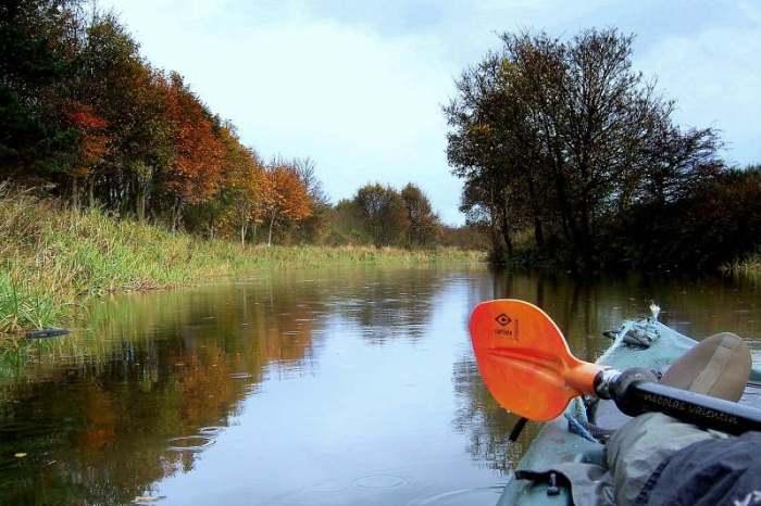 Nicolas on his kayak
