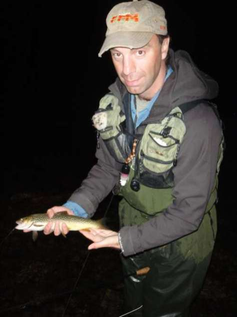 Manu with his trout ..