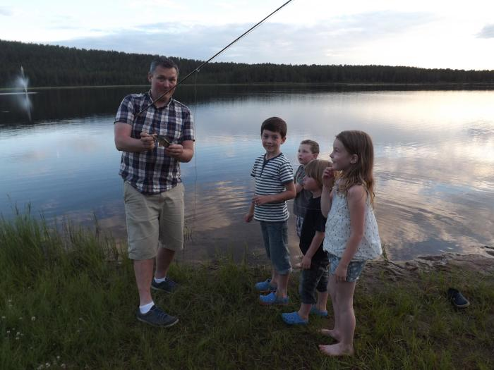 Caught in the light of the arctic circle - bitten to death by mozzies!