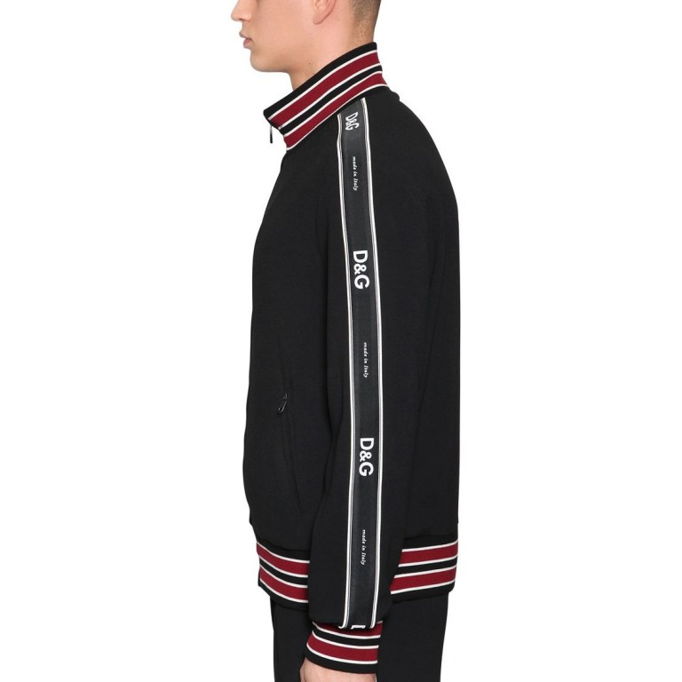 Dolce & Gabbana - Tech viscose blend zip-up sweatshirt