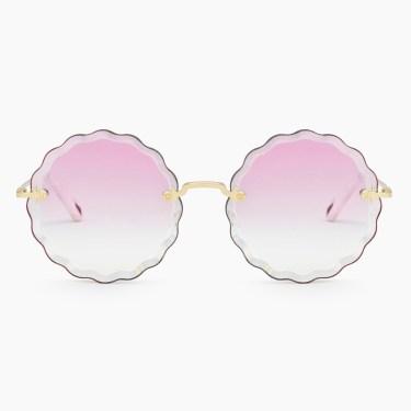 Chloe - Rosie Flower Sunglasses in Metal