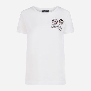 Dolce & Gabbana - Cotton T-Shirt With Patches