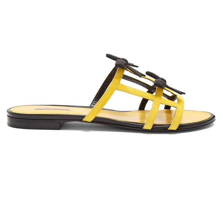 Fabrizio Viti - City Bow-Embellished Suede Slides
