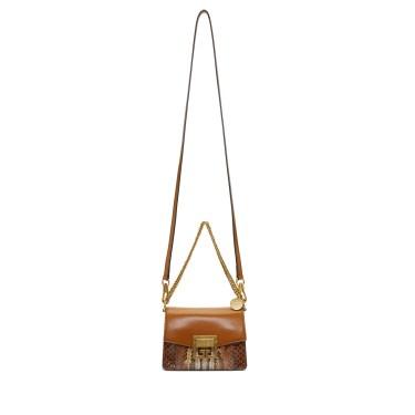 Givenchy - Tan Python Mini GV3 Bag