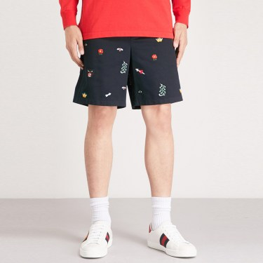 Gucci - Embroidered Shorts