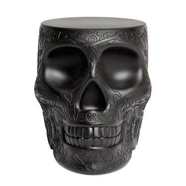 Qeeboo - Mexico Skull StoolSide Table Black