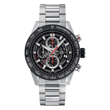Tag Heuer -CAR2A1W.BA0703 Carrera stainless steel and ceramic chronograph watch