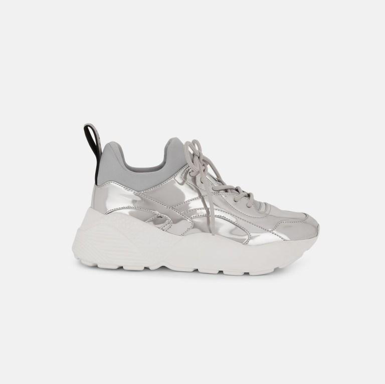 Stella McCartney - Eclypse Silver Sneakers