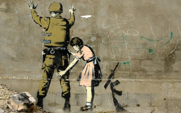 Banksy Soldier and Girl