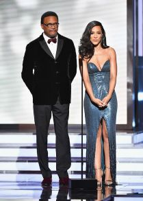 Judge Greg Mathis (L) and Angela Rye onstage _preview