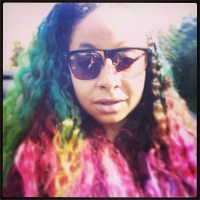 Raven Symone_ Rainbow Hair
