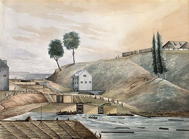History of Quebec City: Entrance of Rideau Canal in what is now Ottawa, Ontario