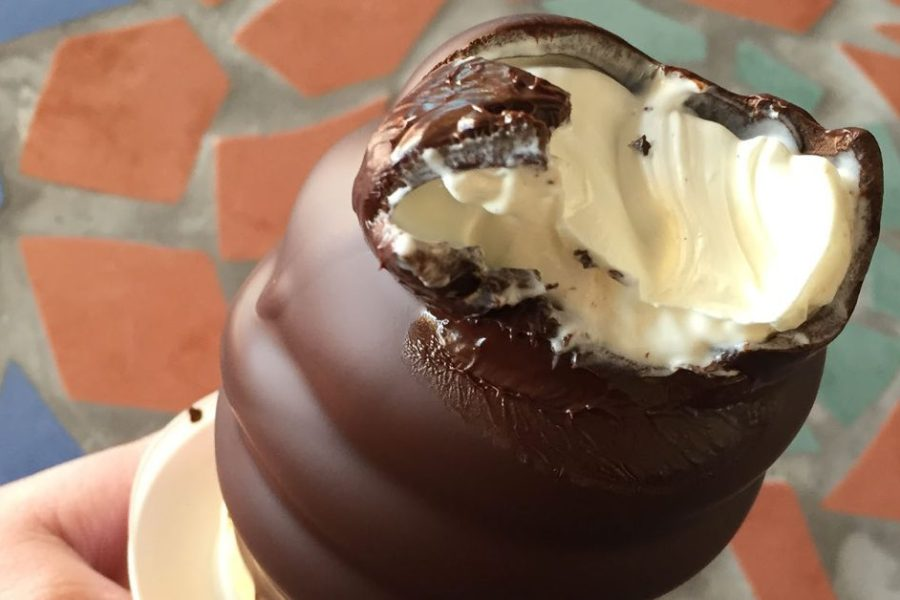Chocolate-Dipped Ice Cream Cones on Ile d'Orleans