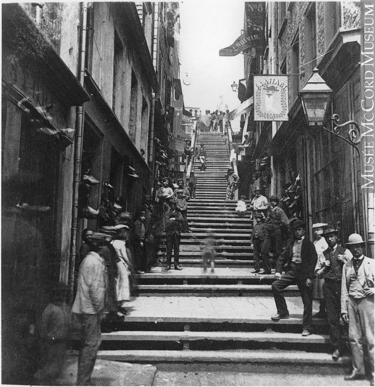 Photograph   Breakneck Steps, Quebec City, QC, about 1870   MP-0000.307.2