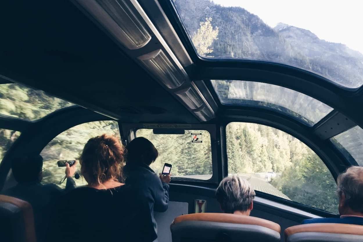 Travelling through the Canadian Rockies on The Canadian with VIA Rail