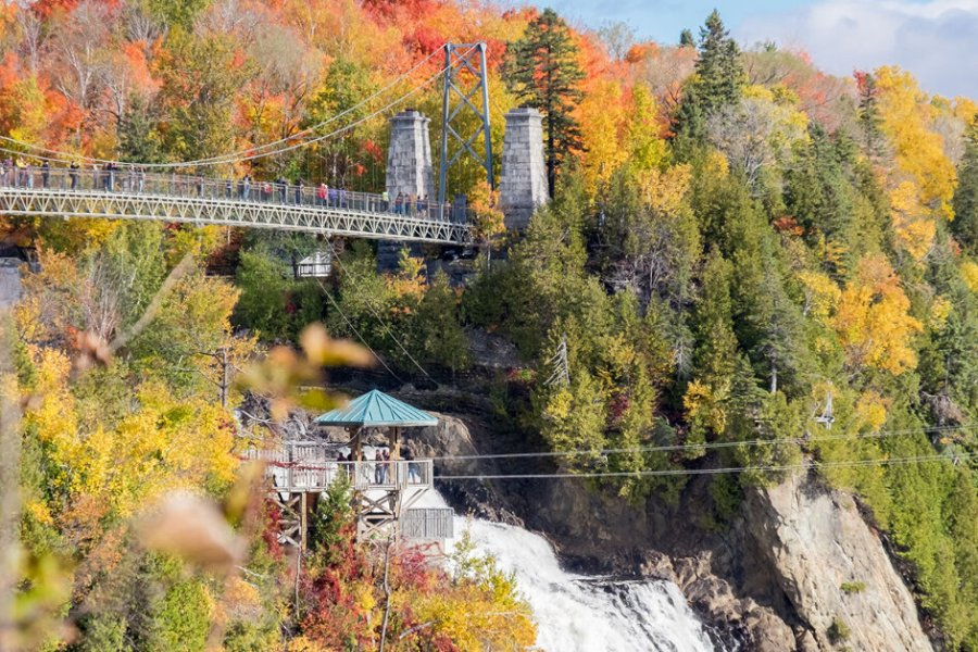 Wander around Montmorency Falls in Quebec City