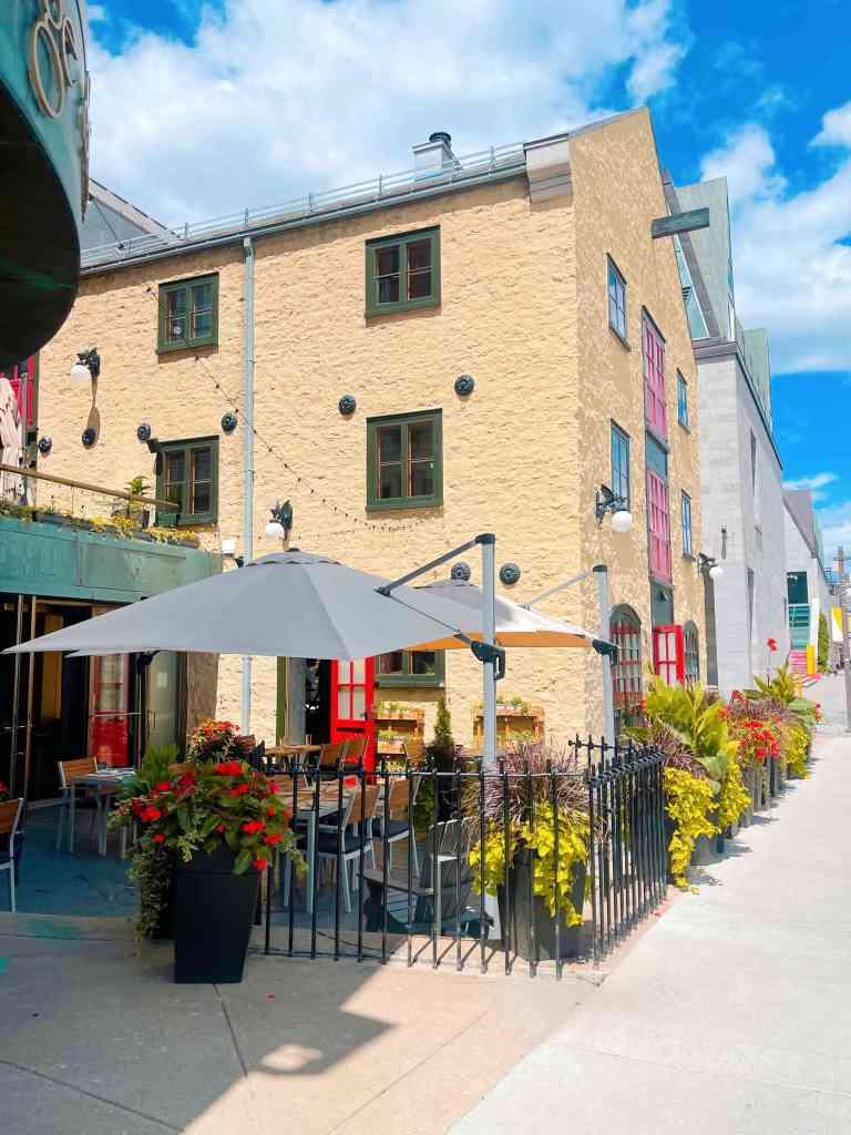 Au Jardin Chez Muffy pop up restaurant on rue Dalhousie