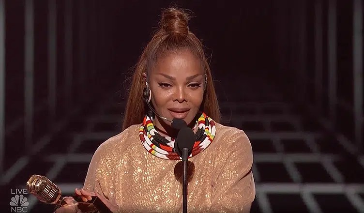 Janet Jackson Accepts Billboard Award (Credit: NBC)