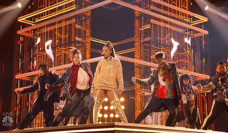 Janet Jackson Performs on Billboard Awards. (Credit: Twitter/NBC)