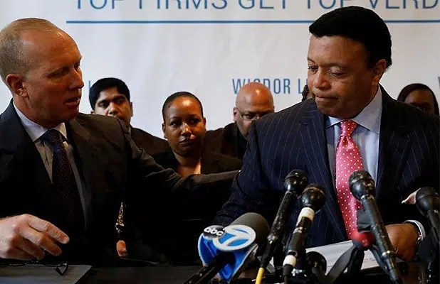 Kelly Wright News Conference about his Fox News lawsuit. (Credit: YouTube)