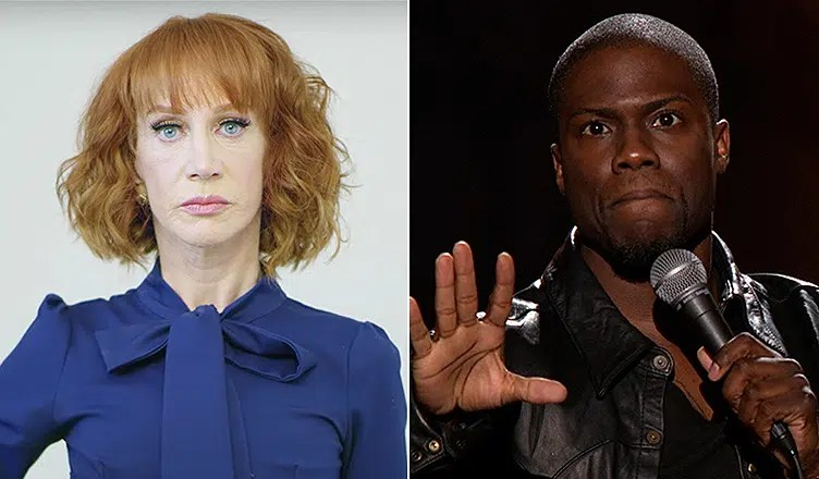 Kathy Griffin and Kevin Hart (Credit: YouTube)