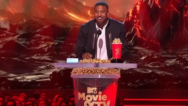 Michael B Jordan at MTV Awards in 2018. (Credit: YouTube)