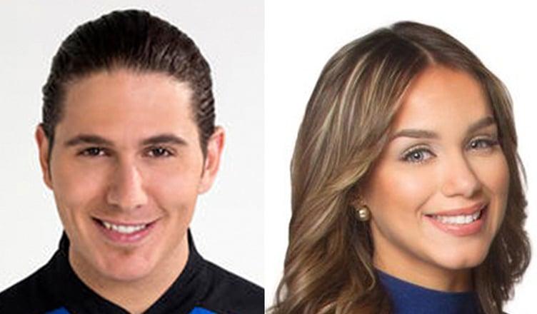 James Tahhan and Janice Bencosme (Credit: Telemundo)