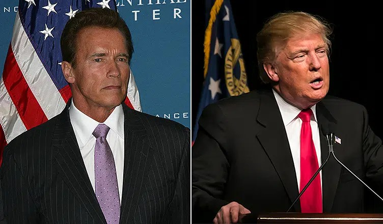 Arnold Schwarzenegger and Donald Trump (Stock Photos)