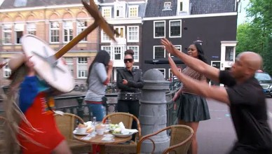 Basketball Wives Table Throwing (Credit: VH1)