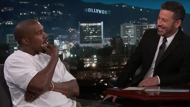 Kanye West Interview on Jimmy Kimmel Live! (Credit: ABC)
