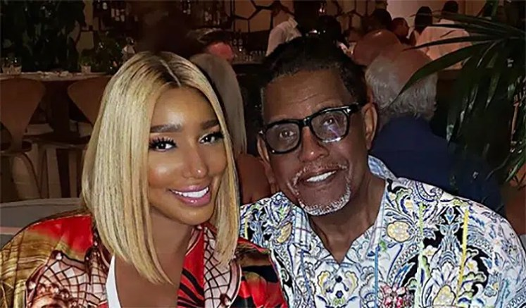 Gregg and NeNe Leakes at dinner on Aug. 17. (Credit: NeNe Leakes/Instagram)