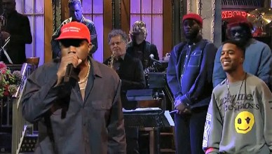 Kanye West MAGA Hat on SNL (Credit: YouTube)