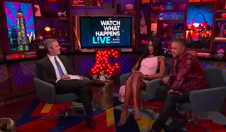 Naomi Campbell, Andy Cohen, Cuba Gooding Jr. on Watch What Happens Live. (Credit: Bravo/YouTube)
