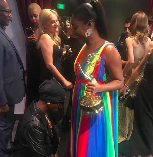 Tiffany Haddish & Katt Williams at the 70th Primetime Emmy Awards in Los Angeles, Sept. 17. (Credit: Tiffany Haddish/Instagram)