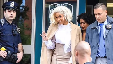 Cardi B turned herself in to police on Monday, Oct. 1, 2018, in New York City. (Credit: ABC 7 New York)